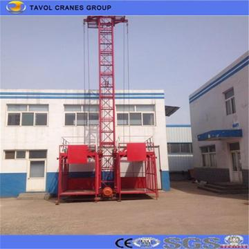 Ss100/100 1ton Double Cage Material Hoist for Construction
