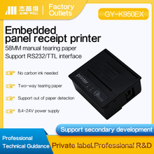 Integrated circuit board embedded thermal printer