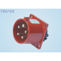 Industrial Panel Mounted Plug 3P+E+N IP44