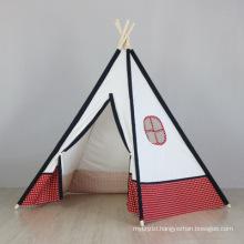 Hot sales indoor Children playing tent 100% cotton fabric teepee kids tent