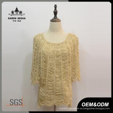 Suéter de media manga para mujer