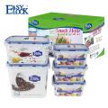Recipientes de armazenamento de comida de plástico Snap Lock com melhor classificação