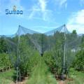 100% HDPE agricultura protección anti granizo de la red