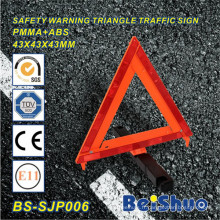 Signe d'alerte de risque de sécurité de la voiture pour le trafic