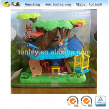forest bear tree house plastic toys mold and injection molding
