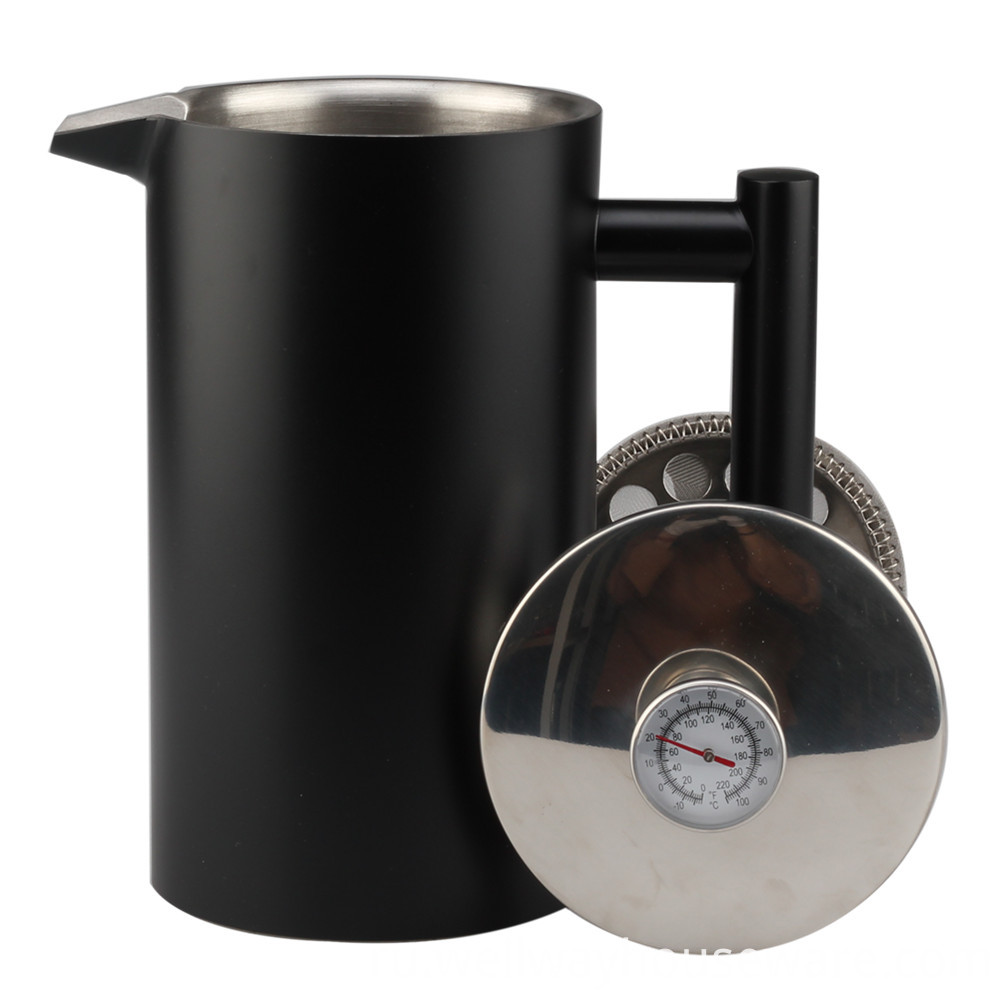 Double Wall French Press With Thermometer