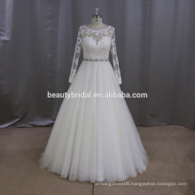 M807 Real sample of muslim design wedding dress bridal gown 2017