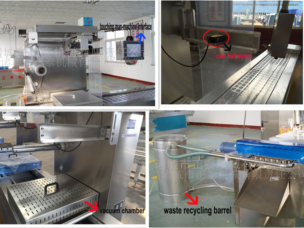 Pasta Automatic Plastic Tray Thermoforming Vacuum Packing Machine