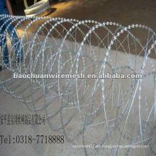 CBT-65 galvanizado Scraper tipo de afeitar alambre de púas para la protección en la tienda (proveedor)