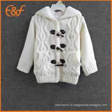 Manteau à capuchon épais Hooded Winter Cardigan pour les filles