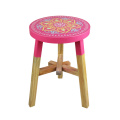 Rose red color  India and Pakistan printing design stool