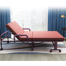 Folding chair sofa bed with comfortable cushions and adjustable folding chair bed with wheels
