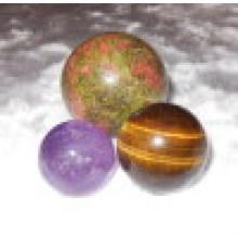 Ornamento cristalino de la bola de la esfera de la piedra preciosa semi adorna el regalo