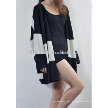 suéter coreano de la rebeca de la cachemira de la raya del color del estilo de las señoras