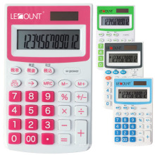12 Digits Dual Power Pocket Calculator with Optional En/Jp Tax Function (LC335)