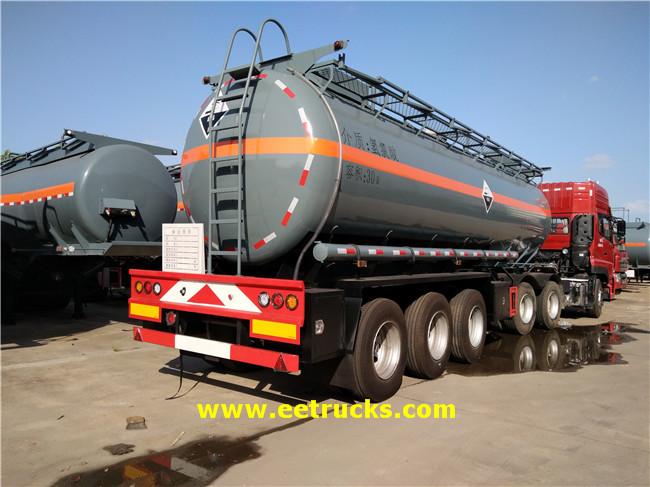 3 Axle Hydrochloric Acid Trailer Tanks