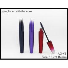 Encantadora & vazio rímel especial-dado forma plástico tubo AG-YS, embalagens de cosméticos do AGPM, cores/logotipo personalizado