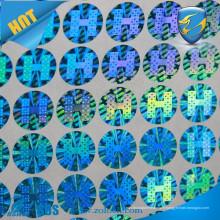 Autocollants d'hologramme de certificat / étiquette de papier de sécurité / autocollant d'hologramme de protection de l'environnement