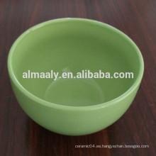 Color esmaltado cerámica cuenco de verduras con diferentes tamaños y colores