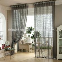 Inicio de decoración de organza encaje tela de sala de cortina de la habitación para el balcón