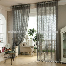 Home decoration organza lace fabric living room curtain for balcony