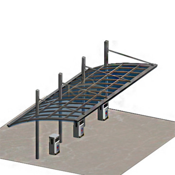 Cochera de hierro Garaje Hip Roof Home Carport