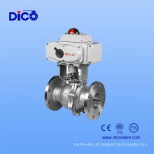 Válvula de esfera do flange do motor elétrico com preço baixo