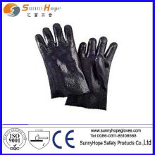 PVC coated gloves with rough finish