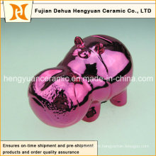 Deep Red Cartoon Toy Piggy Bank for Home Decoration