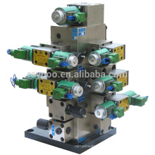 cold press machine integrated manifold systems