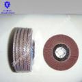 Disco de aleta abrasivo revestido de bajo precio, disco de aleta abrasivo recubierto de alta calidad