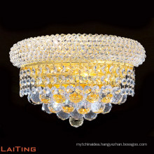 Gold finish wall lamp luxury k9 crystal wall lamps lighting 32422
