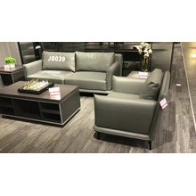 Dious office living room furniture arcuate comfortable 3 seaters modern artificial synthetic leather sofa
