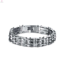 Hot selling couple stainless steel bike chain bracelet, handmade bracelet