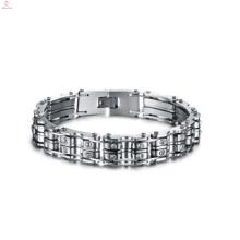 Venda quente casal pulseira de corrente de bicicleta de aço inoxidável, pulseira artesanal