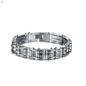 Vente chaude couple bracelet en acier inoxydable chaîne de vélo, bracelet fait à la main