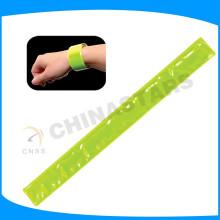 Banda de brazalete reflectante de color amarillo fluorescente de 3 * 30 cm