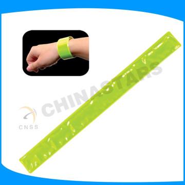 3 * 30cm fluorescent jaune réflexif snap bras bande