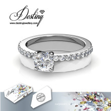 Schicksal Schmuck Kristalle von Swarovski Ceramic verzaubert Ring