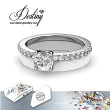 Destino joias cristais de Swarovski cerâmico encantado anel