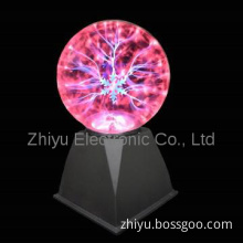 Snowflake Plasma Ball 5\'\' with Touch and Sound Responsive Light