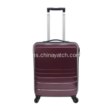 Alloy 3 Piece Luggage Set Upright Spinner Suitcase