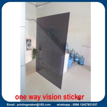 One Way Vision Sticker Printing Service