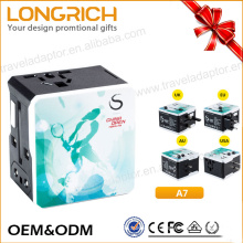 2017 LongRich Hot selling world travel adapter with wholesale price universal adapter