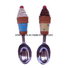 Customized Sculpture Polyresin Handle Ice Cream Scoop