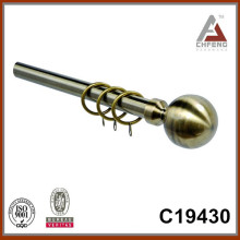 C19430 стандартные круглые шарообразные алюминиевые карнизы для штор, новые аксессуары для штор, двойные одиночные шторы