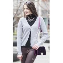 Suéter de cachemira de la rebeca de las mujeres (1500002049)