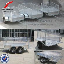 Caliente sumergido galvanizado granja remolque utility trailer