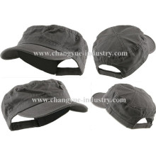 New arrival custom cotton blank flat-top cap with adjustable velcro closure
