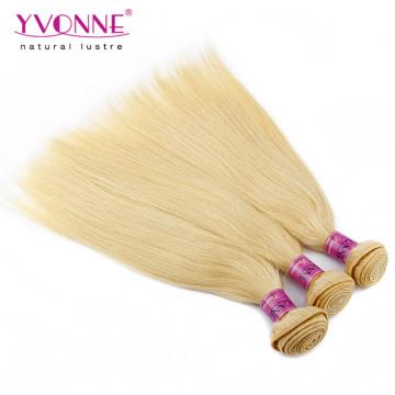 Блондинка Перуанский Прямые Человеческие Волосы